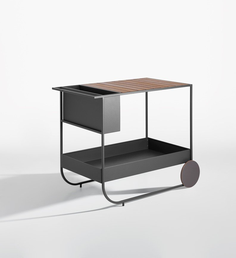 Butler Outdoor Trolley  from Potocco, designed by Bernhardt & Vella