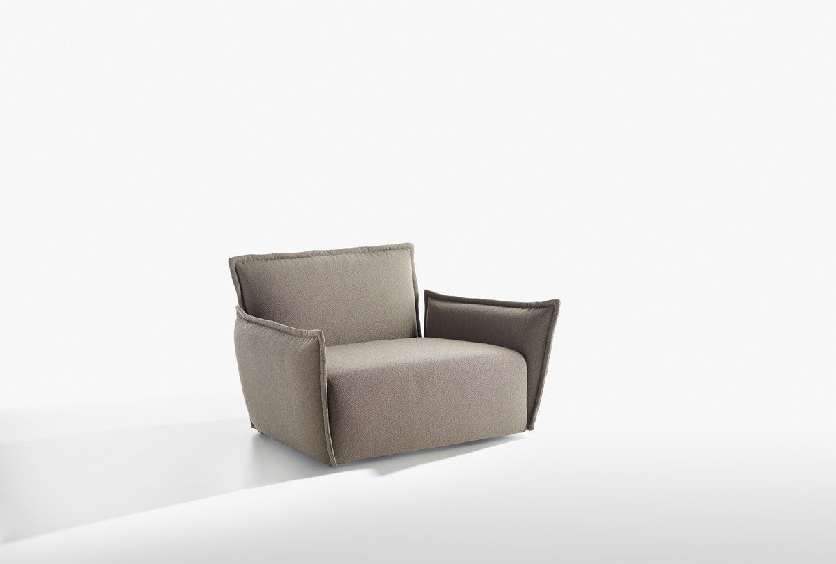 Purple Armchair lounge from Potocco, designed by Marco Viola Studio