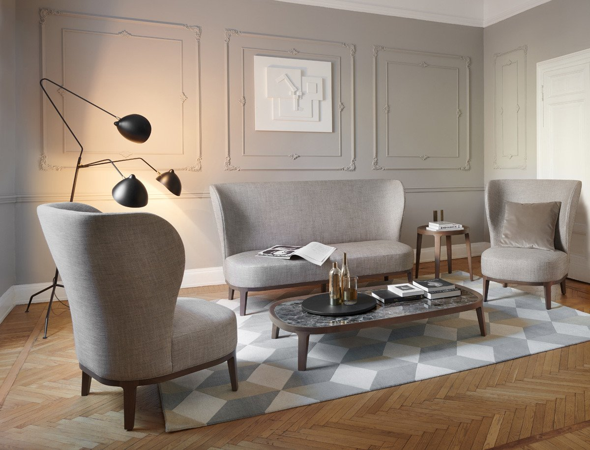 Spring Sofa from Potocco, designed by Bernhardt & Vella