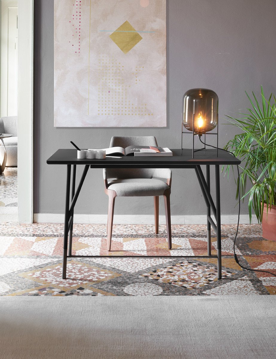 Wood Y Writing Desk from Potocco, designed by Chiara Andreatti