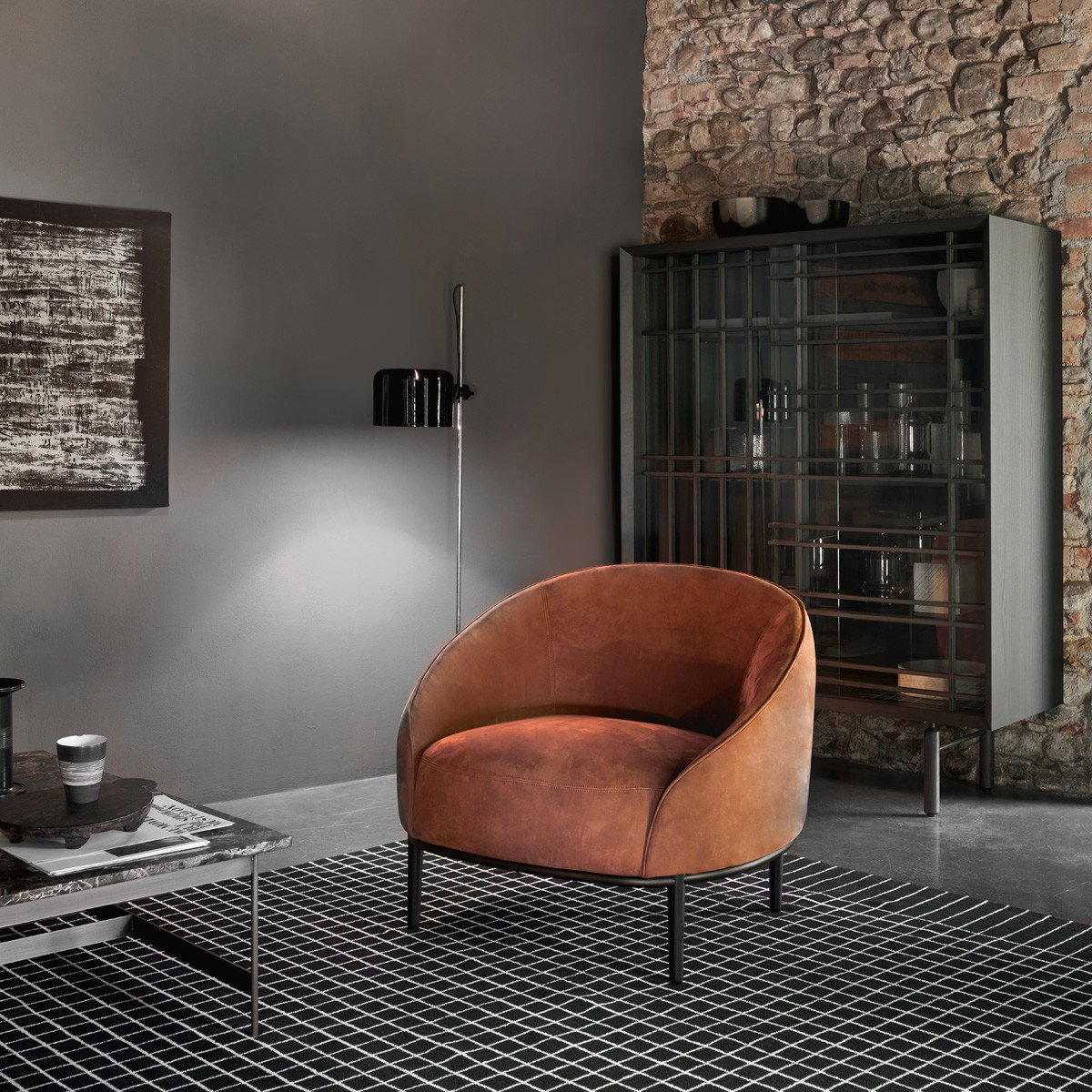 Yoisho Armchair lounge from Potocco, designed by Bernhardt & Vella
