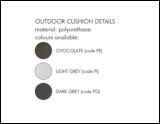 Slide Outdoor Cushion Colors