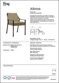Aileron Chair Data Sheet