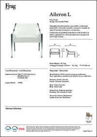Aileron L Lounge Chair Data Sheet