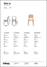 Aloe Dining Chair Data Sheet