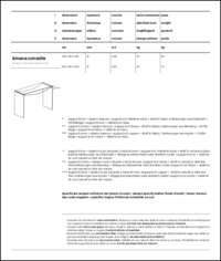 Amaca Office Consolle Table Data Sheet