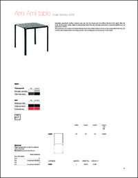 Ami Ami Table Data Sheet