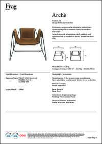 Arche Lounge Chair Data Sheet