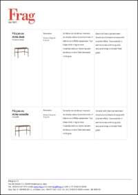 Arita Coffee Table Data Sheet