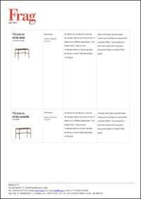 Arita Desk Data Sheet