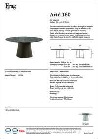 Arthur Dining Table Data Sheet