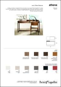 Athena Wooden Desk Data Sheet