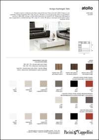 Atollo Coffee Table Data Sheet