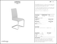 Aurora Dining Chair Data Sheet