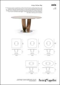 Axis Dining Table Data Sheet