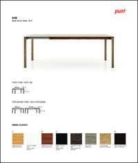 Bass Dining Table Data Sheet