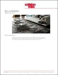 Billy Keramik Coffee Table Data Sheet