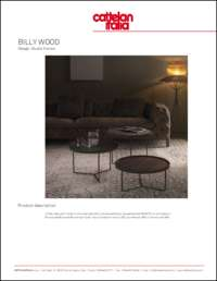 Billy Wood Coffee Table Data Sheet