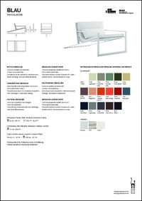 Blau Singular Lounge Chair Data Sheet