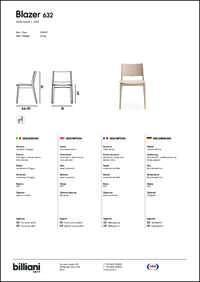 Blazer Dining Chair Data Sheet