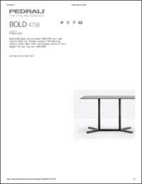 Bold Dining Data Sheet