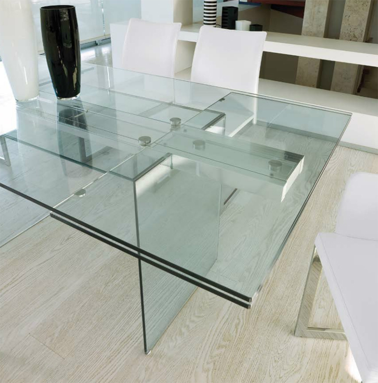 Miami Is A Beautiful Modern Glass Dining Table