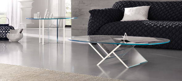 Veer Coffee Table & Veer Side Table by Tonelli