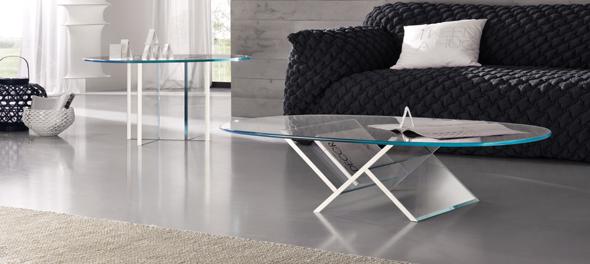Veer Coffee Table & Veer Side Table by Tonelli