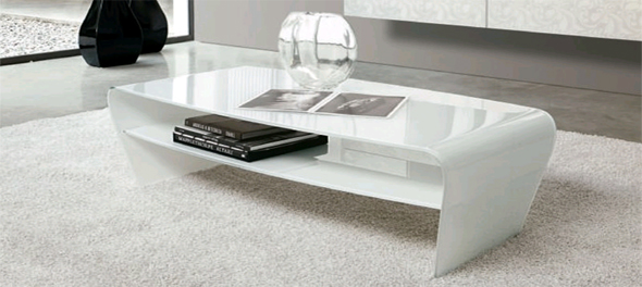 Bent Glass Furniture and Waterfall Tables Ultra Modern