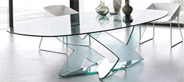 Bent Glass Dining Tables