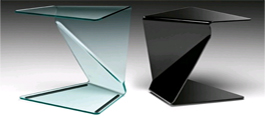 Bent Glass End Tables