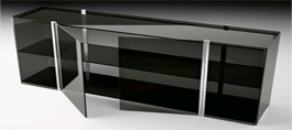 Bent Glass Cabinets