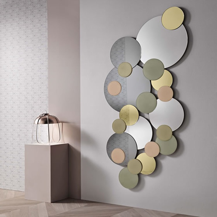 Tonelli atomic mirrors round top living room atomic for Different sized mirrors
