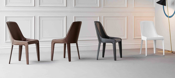 Lamina dining chair by Bonaldo