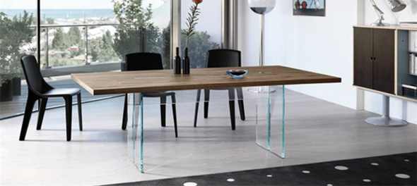 fiam llt wood - Modern Contemporary Dining Table